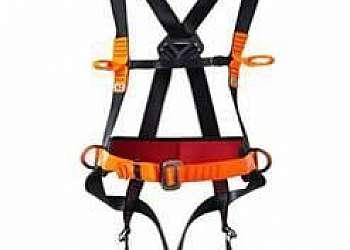 Cinto de segurança tipo paraquedista com talabarte duplo