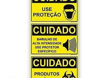 Luvas de segurança do trabalho