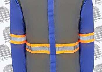 Uniforme retardante a chamas nr10 com faixa reflet